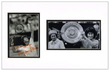 Virginia Wade Autograph Signed Photo Display